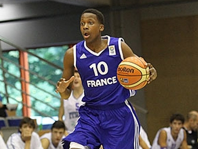 Frank Ntilikina playing for the French U18 team. Photo: AP Photo
