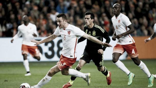 España en un amistoso contra Holanda en 2015. Foto: EFE