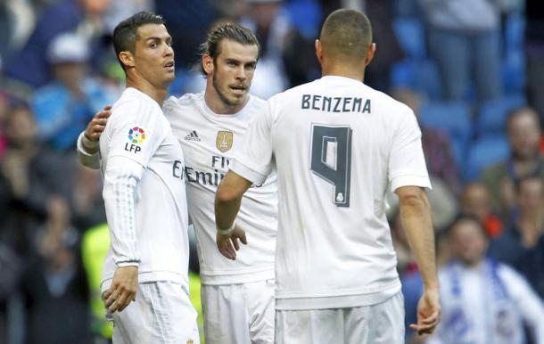 La BBC del Real Madrid. Fonte: Getty Images
