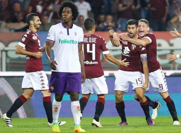 Zappacosta, Falque, Benassi e Belotti festeggiano il gol
