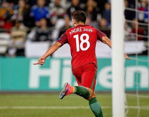 André Silva tem 4 golos em 4 jogos realizados pela selecção A | Foto: Facebook Oficial do jogador