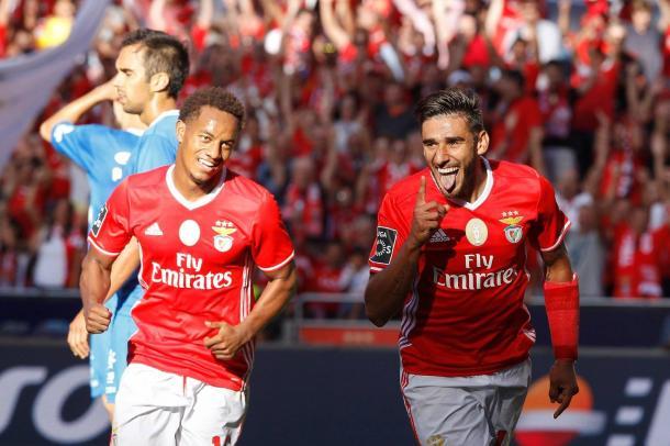Salvio esteve envolvido em dois dos quatro golos da partida // Foto: Facebook do SL Benfica