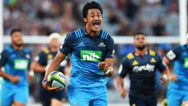 Melani Nalai enjoys scoring for the Blues on opening night (image via: stuff.co.nz)