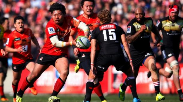 Keita Inagaki of the Sunwolves in possession against the Lions (image via: stuff.co.nz)