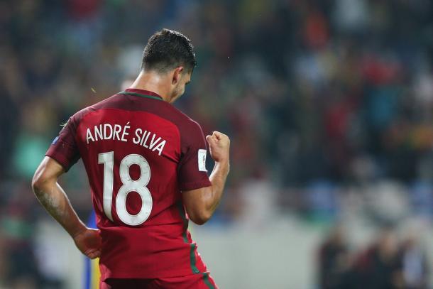 André Silva estreou-se a marcar pela seleção lusa // Foto: Facebook Seleções de Portugal