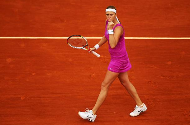 Petra Kvitova in action during the French Open in 2012 (Getty/Clive Brunskill)