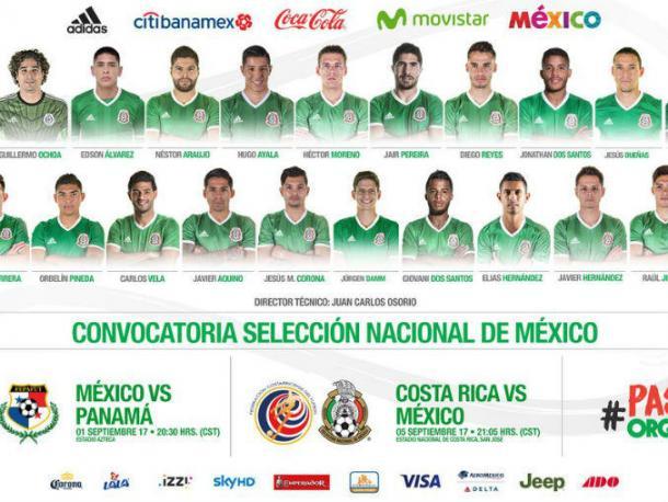 Convocatoria de México | Foto: Twitter