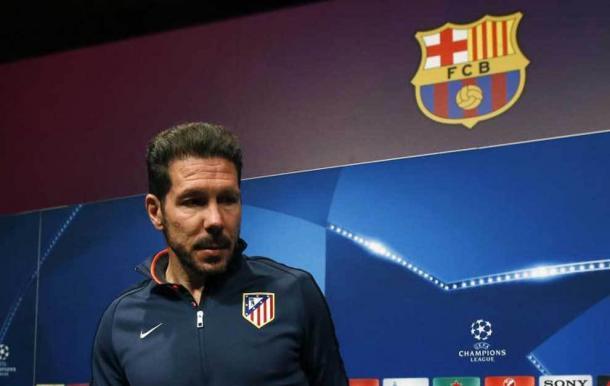 Diego Simeone facing the press. Photo: MARCA