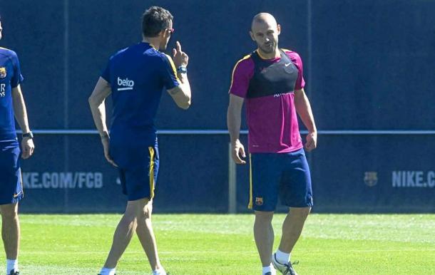 Luis Enrique and Javier Mascherano. Photo: MARCA