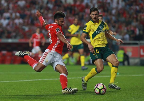 Salvio marcou e voltou a assinalar uma boa exibição // Foto: Facebook do SL Benfica