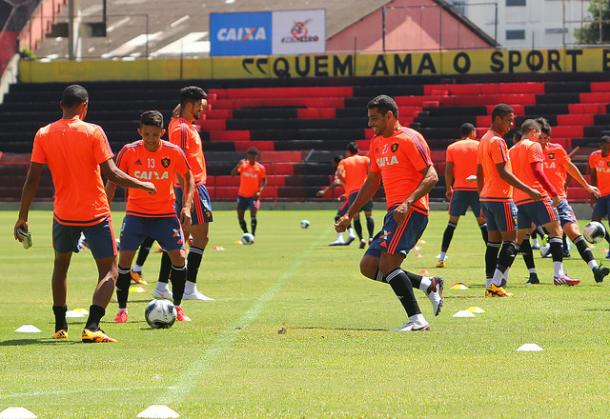Leão encerrou preparação na Ilha do Retiro (Foto: Williams Aguiar/Sport)