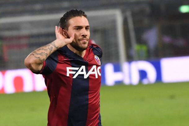 Simone Verdi esulta dopo il gol del momentaneo vantaggio