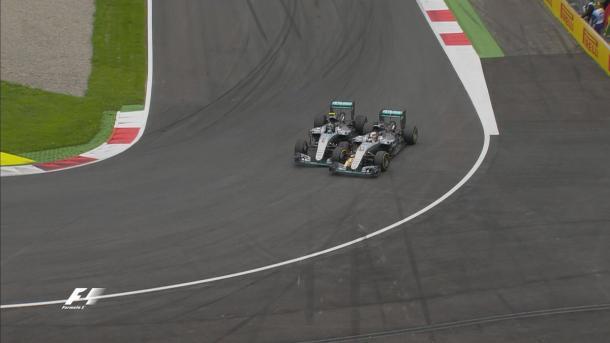 Hamilton y Rosberg, Austria 2016. Foto: Fórmula 1