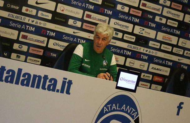 Gian Piero Gasperini in conferenza stampa - Fonte: Atalanta.it