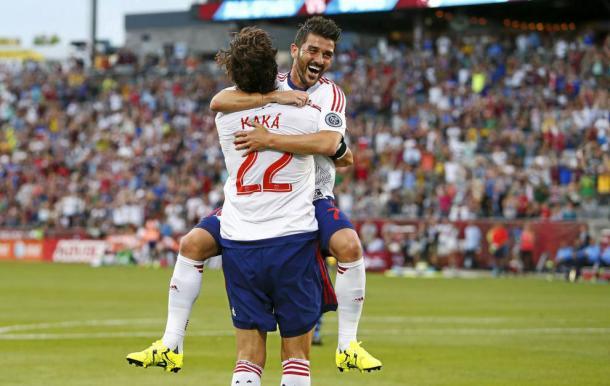 Villa celebra su gol en el All-Star (mlssoccer.com)