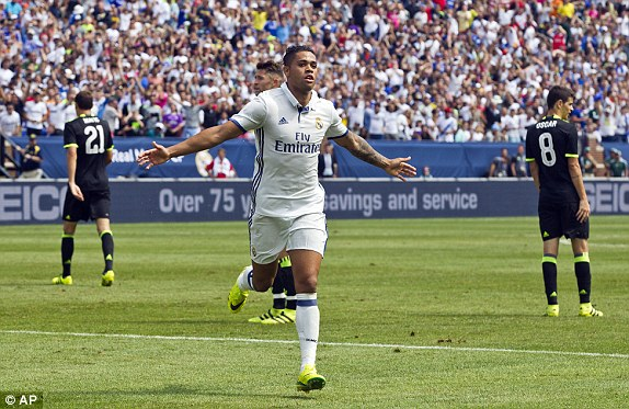 Above: Mariano Diaz Mejia celebrating his goal in Chelsea's 3-2 defeat to Real Madrid | Photo: AP