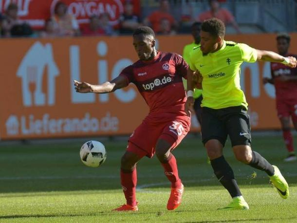 Osayamen Osawe in the game against Metz last Friday | Photo: Lamperheimer-Zeitung/Imago