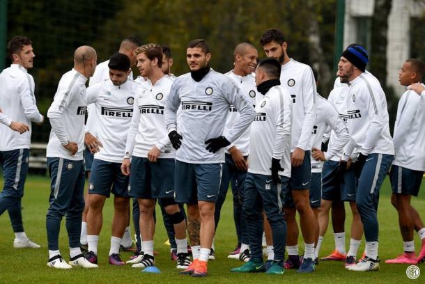 L'Inter in allenamento - Fonte: Inter.it