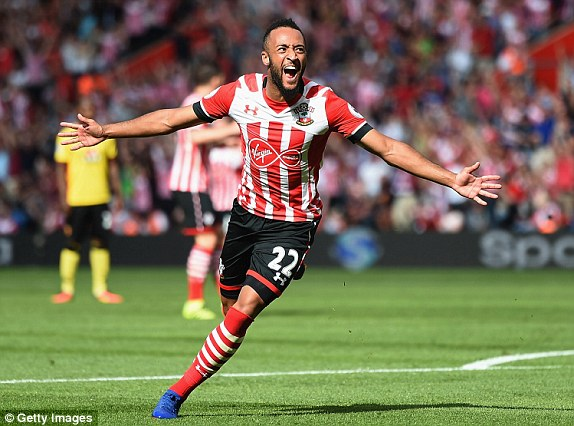 Above: Nathan Redmond celebrating his debut goal in Southampton's 1-1 draw with Watford | Photo: Getty Images