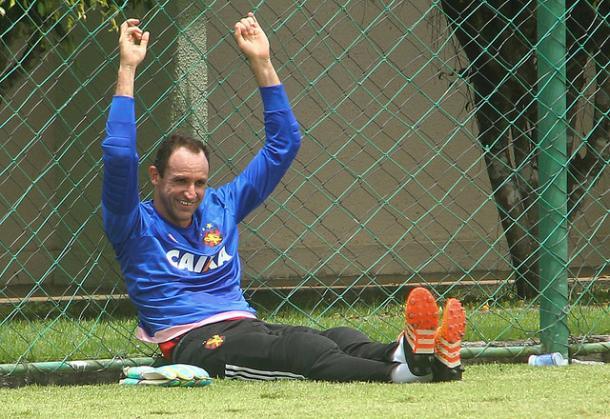 Magrão, antes contestado, começa a ganhar espaço no time titular do Sport (Foto: Williams Aguiar/Sport)