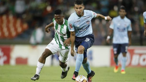 El último partido Nacional-Junior en Medellín por Liga terminó 2-2. | Foto: Colprensa