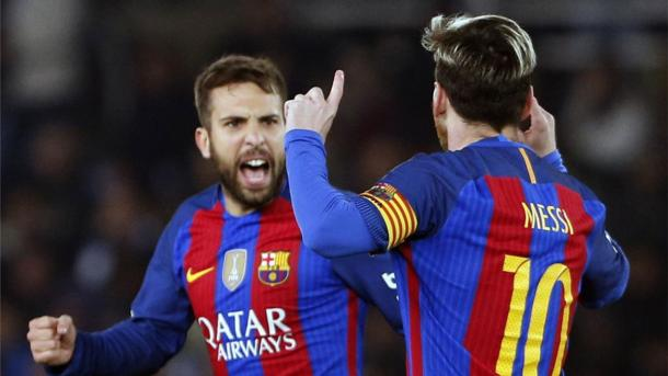 L'esultanza di Leo Messi dopo il gol dell'1-1 (Fonte foto: Sport.es)