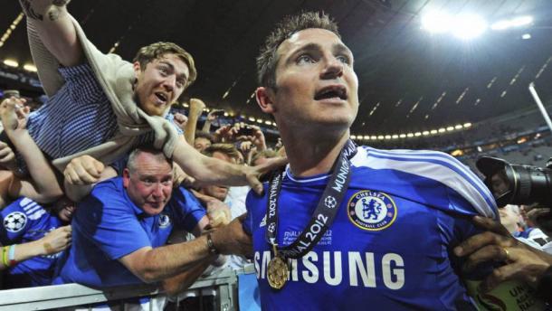 Lampard durante la celebración de la Champions de 2012 / FOTO: UEFA
