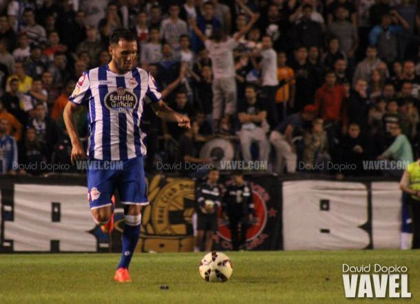 Lucas Pérez, goleador ante el CD Leganés, en su etapa en el Deportivo de la Coruña | Foto: David Dopico, VAVEL