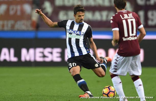 Felipe ha sofferto a sinistra contro il Torino. Fonte: www.facebook.com/UdineseCalcio1896