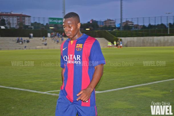 Adama, con el Barça B | Foto: Noelia Déniz (VAVEL.com)