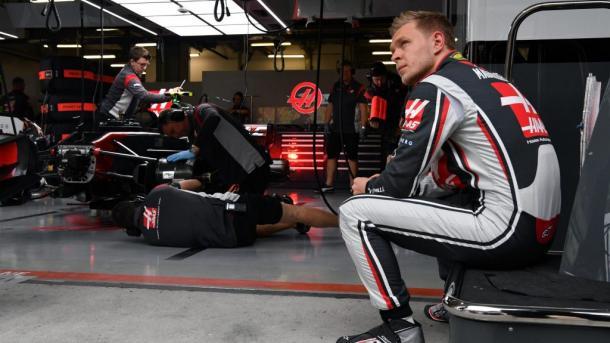 'Kev' Magnussen con Haas. Foto: F1