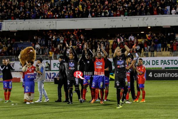 Deportivo Pasto se queda en primera. Foto: Quique Rosero.
