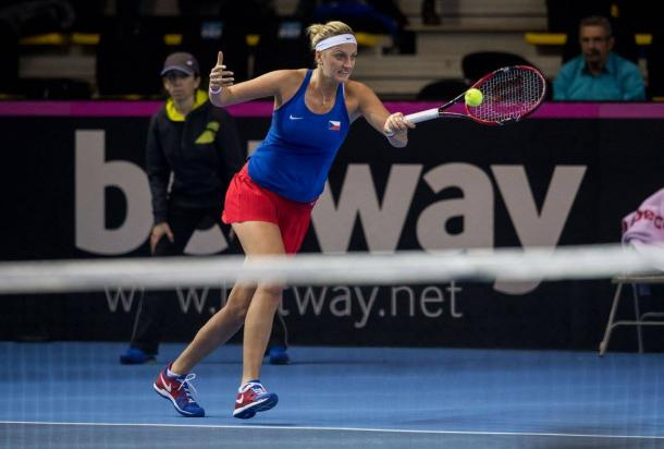Kvitova looked to have found her groove as the fightback looked imminent | Photo: Fed Cup