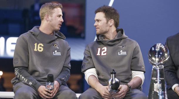 Brady vs Goff. ¿Quién ganará el domingo? // Foto: NFL Oficial
