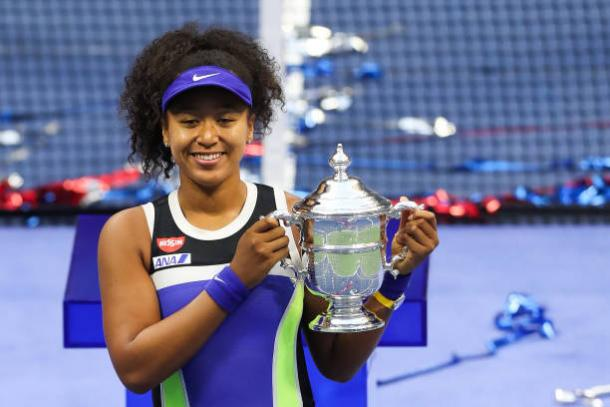 Osaka, 2020 US Open women's singles winner. Photo: Matthew Stockman
