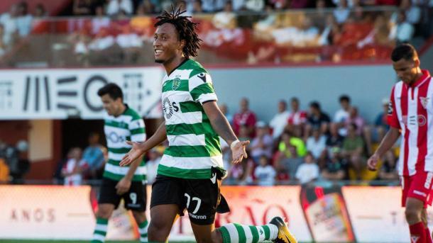 Martins celebra su gol en la primera vuelta | Foto: Sporting CP