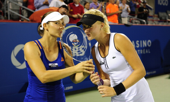 Mladenvic (right) with her first WTA title | Photo: Robert Laberge/Getty Images