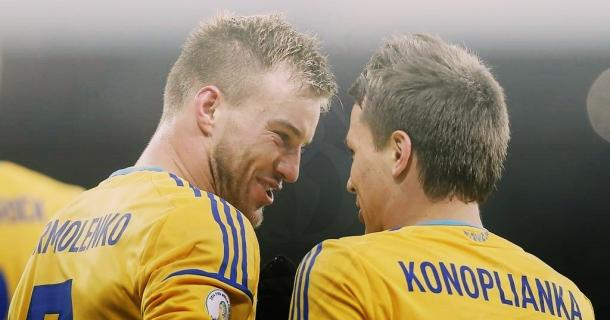 Yarmolenko (left) and Konoplyanka (right) are Ukraine's deadly duo. (Photo: A. Lukatsky)