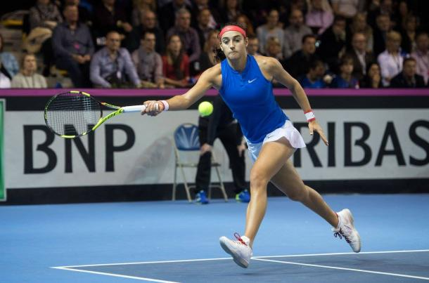 Garcia always looked to have the edge | Photo: Fed Cup