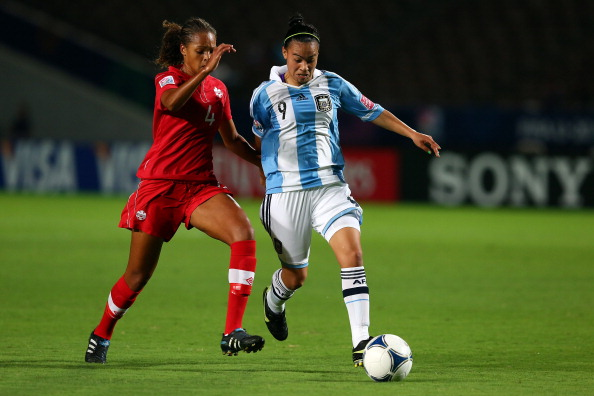 Melhado featured many times for Canada at youth level and has one senior cap for her country. (Photo: Getty)