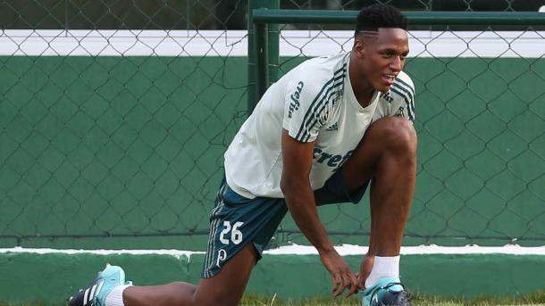 Yerry Mina en su vuelta los entrenamientos / FOTO: Palmeiras