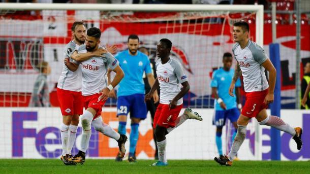Olympique de Marsella frente al Salzburgo en un partido / Fuente Olympique de Marsella