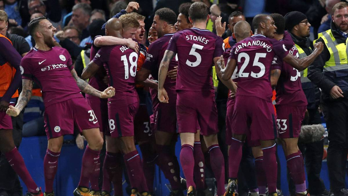 The City players celebrate a big goal | Photo: AS