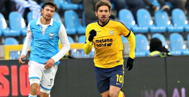 Cerci durante el último encuentro en Serie A | Foto: Hellas Verona