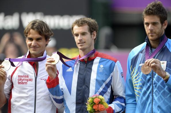 Federer, Murray e Del Potro/ Foto: Popperfoto/ Getty Images