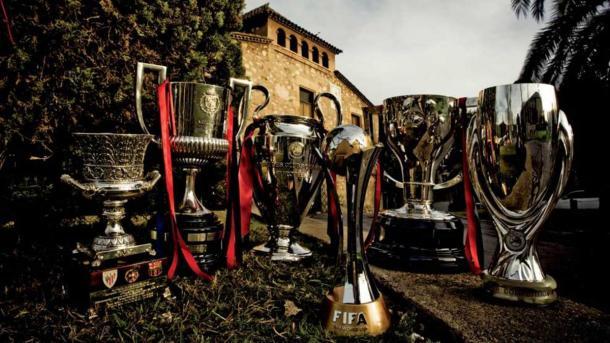 Las 6 copas que conquistó el FC Barcelona. | Foto: FC Barcelona