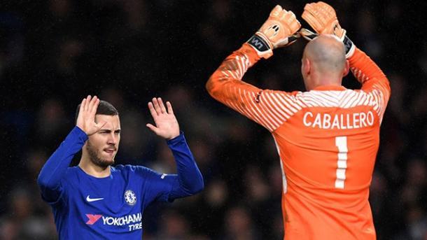 Hazard convirtió el ultimo penalti y Caballero tapó el primer disparo | Foto: Chelsea.