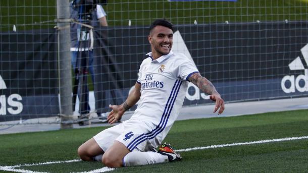 Alex Martín en su paso por el Real Madrid Castilla. Fuente: Real Madrid