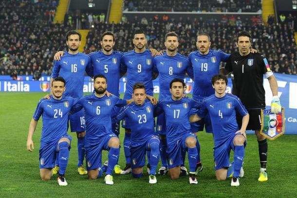 L'undici Azzurro nel match con la Spagna. Fonte: LaPresse.