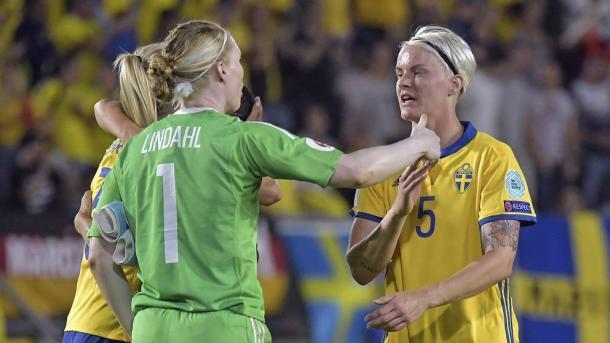Hedvig Lindahl and Nilla Fischer are key to Sweden's defense | Source: Bildbyrån